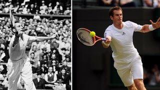 Fred Perry (left) and Andy Murray (right)