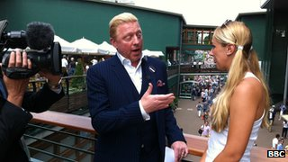 Boris Becker and Sabine Lisicki