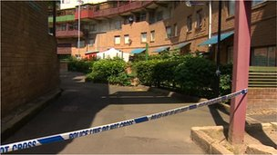 Police tape at Byker Wall