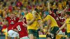 Australia v British and Irish Lions third Test Lions celebrate at full-time