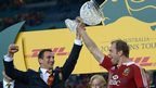 Australia v British and Irish Lions third Test Sam Warburton Alun Wyn Jones trophy