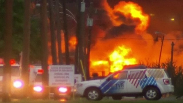 Lac-Megantic train explosion fire