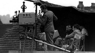 BBC crew at Trent Bridge 1950