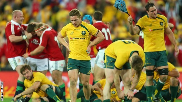Australia players look dejected