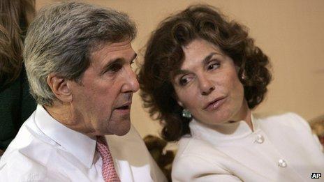 John Kerry with Teresa Heinz Kerry in 2008