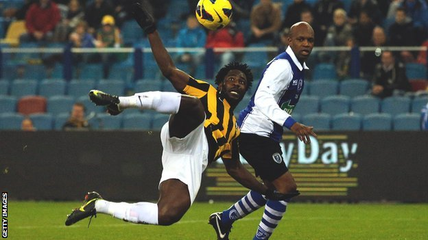 Wilfried Bony in action for Vitesse Arnhem