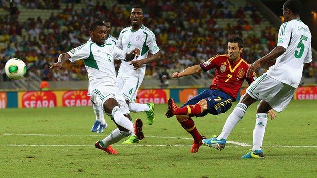 Nigeria in Confederations Cup action