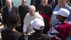 Pope Francis meets locals on Lampedusa