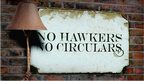 No hawking sign