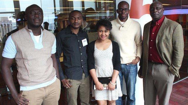 Elnathan John, Abubakar Adam Ibrahim, Chinelo Okparanta, Tope Folarin and Pede Hollist