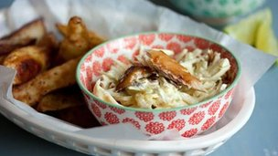Smoked mackerel coleslaw