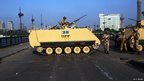 Tanks near Tahrir Square in Cairo on 8 July 2013