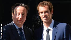 David Cameron and Andy Murray