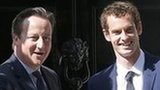 Andy Murray (right) and David Cameron