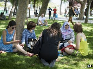 People in Gezi Park in Istanbul (8 July 2013)