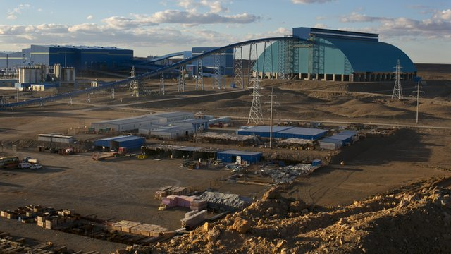 An overall view of the concentrator and surrounding area at the Oyu Tolgoi mine, Mongolia