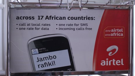 Advert for Airtel in Africa