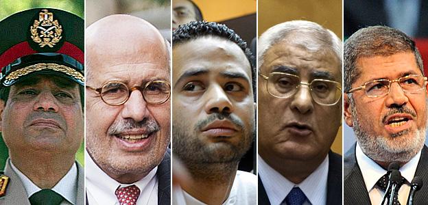 Gen Abdel Fattah al-Sisi; Mohamed ElBaradei; Mahmoud Badr; Adly Mansour; Mohammed Morsi