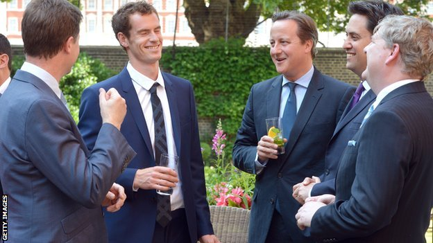 Andy Murray with the Prime Minister