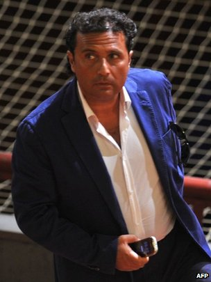 Capt Francesco Schettino in court in Grosseto, Italy (9 Jul 2013)
