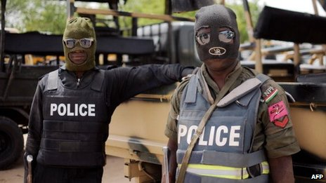 Nigerian police fighting Boko Haram (file photo)