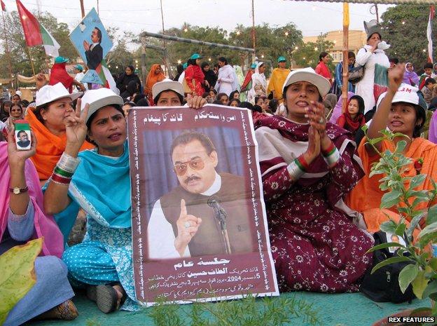 Supporters of Muttahida Qaumi Movement (MQM) in Karachi