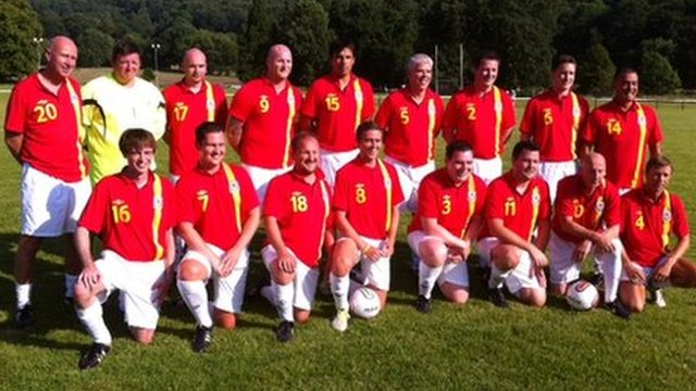 Wales team in Machynlleth