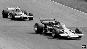 Jack Brabham in action