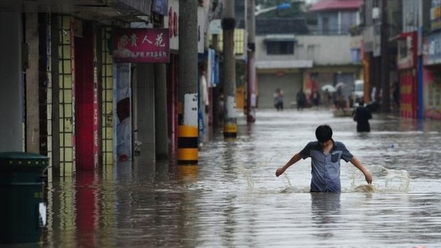 Floods in China's Sichuan province
