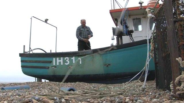 Aldeburgh fisherman Kirk Stribling