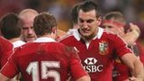 Lions Leigh Halfpenny and Sam Warburton
