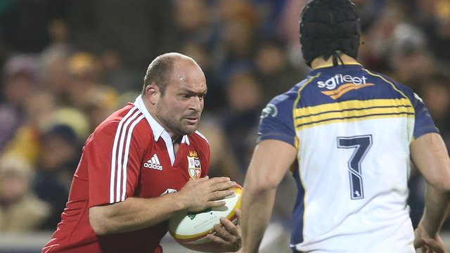 Rory Best in action against ACT Brumbies