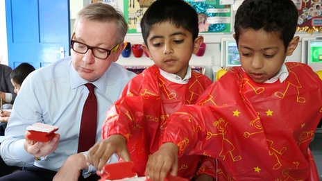 Michael Gove primary school visit