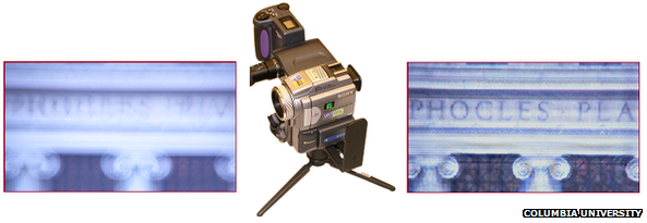 Hybrid video camera used to reverse motion blur caused by camera shake