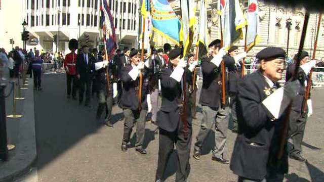 Veterans march in London