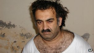 Khalid Sheikh Mohammed after his arrest in 2003