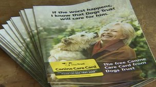Canine Care Card leaflets