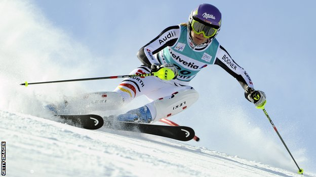 Maria Hoefl-Riesch of Germany
