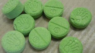 Green-coloured tablets with 'Rolex' crown logo.