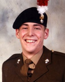 Lee Rigby following his passing out parade