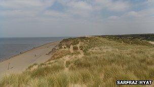 Formby sand dunes, Merseyside - by Sarfaz Hyat