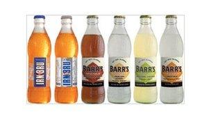 bottles of soft drinks