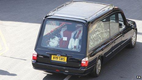 Lee Rigby funeral car