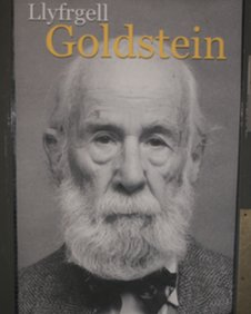 A poster of Leonard Goldstein in the university's new reference library
