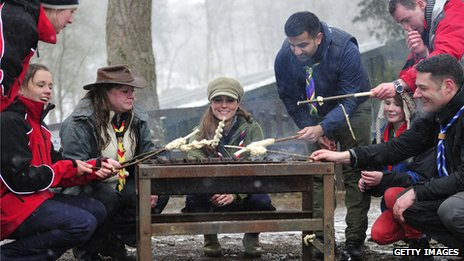Duchess of Cambridge at Scout camp