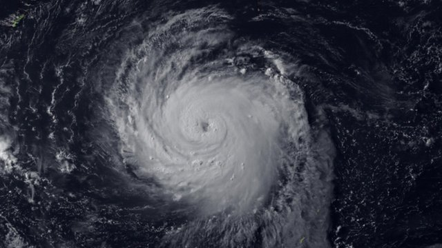 View of typhoon from space