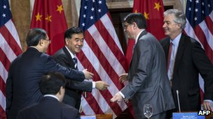 US and Chinese official at bi-lateral talks held in Washington