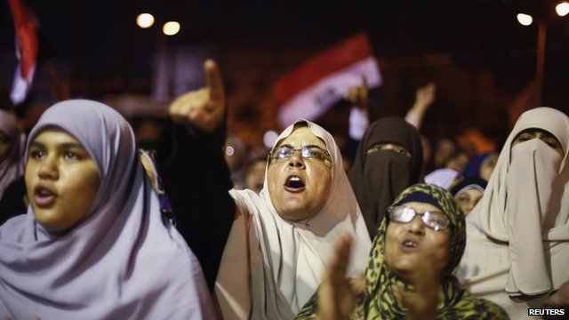 Pro-Morsi demonstrators