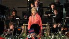Dame Kiri De Kanawa performs during The Coronation Festival Evening Gala at Buckingham Palace