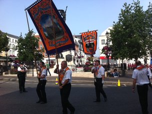 Londonderry flagship Orange Order parade